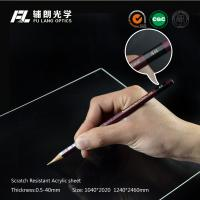 Clear plastic sheet Scratch Resistant Acrylic Sheet for robot partitions, aluminium profile modular assembly