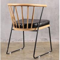 Buy cheap Comfortable Upholstered Modern Dining Chairs , Leather Dining Arm Chairs With Steel Supporting Legs product