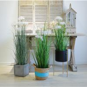 Durable Artificial Bonsai Tree Plush Fiber Silk Fabric Aloe Dog Tail Onion Grass for sale