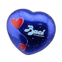Buy cheap Baci Chocolate Tin Box Heart Shaped Metal Can With Base Blue Color product