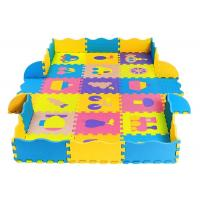 China Eco-Friendly 100% eva puzzle mats with fence soft baby play mat on sale