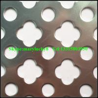 Quality stainless steel Round hole perforated metal mesh for sale