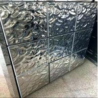 China Embossed Stainless Steel Sheets Rose Gold Mirror Finish 304 316  For Hotels Villa Lobby Interior Decoration on sale