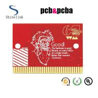 Quality Red soldermask single sided pcb board , circuit board with gold finger for sale