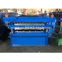 China Two Profiles In One Roofing Sheet Roll Forming Machine Double Layer Machine on sale