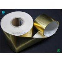 China Customized Gold Ultra Thin Waterproof Aluminium Foil Paper For Cigarette Packet Soft Inner Layer on sale