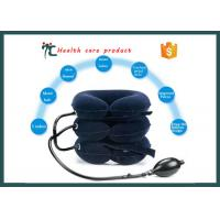 China Fully Flannel Portable Inflatable Cervical Neck Traction Collar Device on sale