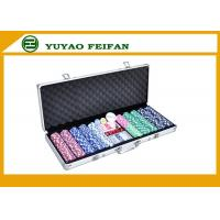 Buy cheap 500 Ct Striped Dice 11.5 Gram Poker Chips Sets W / Aluminum Case product