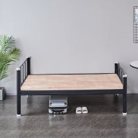 Quality Bedroom Students H870 Single Iron Bed Frame Screwless metal single bed for sale