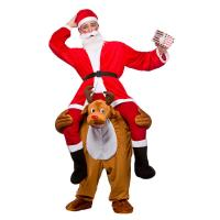 Quality Christmas Ride On Deer Adult Animal Costumes For Halloween Party for sale