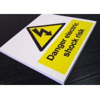 Buy Real Estate Outdoor PVC Sign Board Warning Function White Fire Retardant at wholesale prices