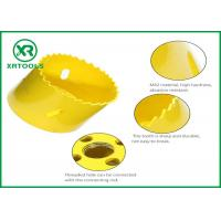 Quality HSS M42 Bi Metal Hole Saw , Yellow Finished Deep Hole Saw For Wood / Aluminum for sale