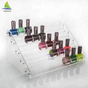 Quality Custom Acrylic Cosmetic Display Shopping Mall Acrylic Nail Polish Essential Oil Display Rack for sale
