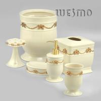 Quality 6 Piece Modern Porcelain Bathroom Accessories for sale