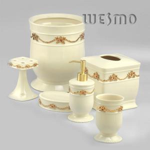 Quality 6 Piece Modern Porcelain Bathroom Accessories for sale