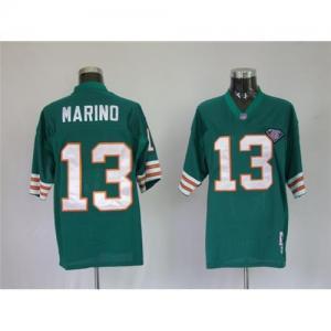 China Reebok NFL Throwback Jerseys Miami Dolphins #13 Dan Marino Aqua from ecjersey trade company on sale