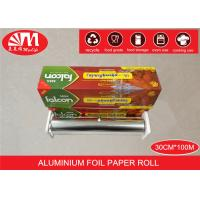 China Recyclable Catering Aluminium Foil Roll 30cm X 15 Micron X100m Food Wrapping on sale