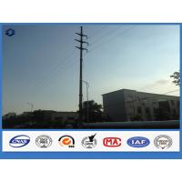 China Hot Dip Galvanized Steel Polygonal Electrical Power Suspension Pole on sale