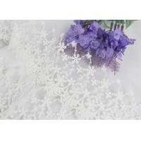 Quality Wide Handmade Flower Embroidered Tulle Lace Trim For Winter Wedding Dressmaking for sale
