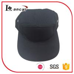 Quality Adjustable Baseball Caps Hats , Mens black cotton mesh snap 5 panel cap for sale