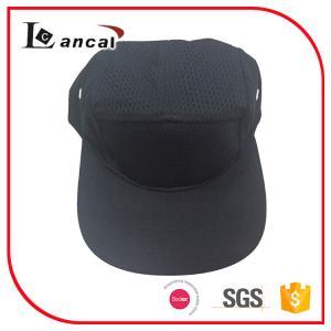 Buy cheap Adjustable Baseball Caps Hats , Mens black cotton mesh snap 5 panel cap product