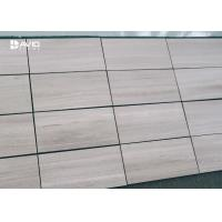 Grey Wood Grain Color Marble Stone Tile For Interior Wall Cladding High Hardness