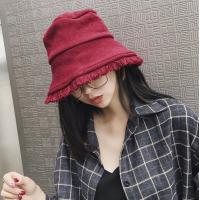Quality Knitting pot hat tide men and women autumn and winter solid color warm casual wild Bucket Hat for sale
