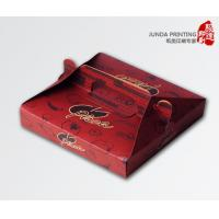 Quality Custom CMYK Printed Cardboard Pizza Boxes With Paper Handle for sale