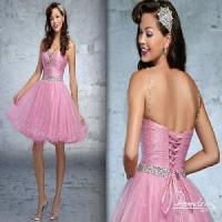 China Ruffled Organza Bodice and Skirt Party Dress (DN30030) on sale