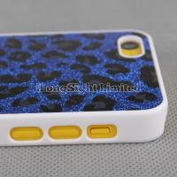 Quality Leopard Print Glitter Plastic Hard Case For iPhone 5C for sale