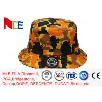 China FUN printing embroidery yellow camouflage adult fisher man bucket hat on sale