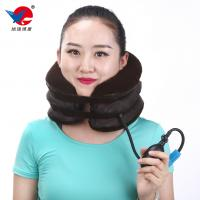 Quality Universal Inflatable Neck Support Brace Flannel Cervical Collar Free Size for sale