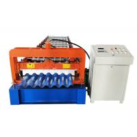 China trapezoidal colour coated sheet profile sheet metal roll forming machine price on sale