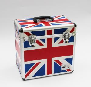 Quality LP 50pcs DVD storage case aluminum Union flag tool carry case for sale