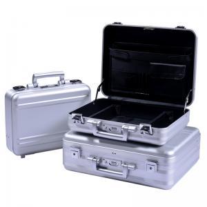 Quality MS-M-01 S Anodize Silver Aluminum Briefcase Aluminum Attache Tool Case for sale