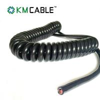 Buy Semi Truck Trailer Power Cord PVC Insulation Flame Retardant Spring Coiled at wholesale prices