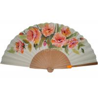 Quality Transfer Printing Wooden Hand Fan For Promotion , Gift , Souvenirs Aesthetical for sale