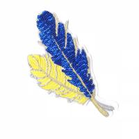 Quality Simple Style Sequin Applique Patches , Leaves Sequin Patches For Clothes for sale
