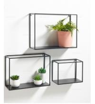 Quality Black  Industrial Metal Box Shelves Metal Wall Display Shelve Floating Shelves for sale