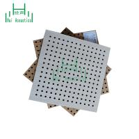 China Perforated Cheap Acoustic Panell Fire Rated MDF Board Perforated Board Auditorium Acoustic Panel on sale