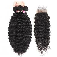 Quality No Tangle 100% Virgin Human Hair Extensions And 4 X 4 Closures for sale