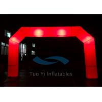 Quality Red PVC Blow Up Start Finish Line Inflatable Gate LED Light Balloons for sale