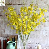 China UVG Yellow decorative orchids plastic artificial flower factory for home garden decoration on sale