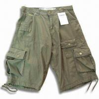Quality Men's Casual Short Pant with Many Pockets, Made of 100% Cotton Fabric for sale