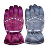 Quality Sports Ski Gloves with TR Lining, Made of 100% Polyester for sale