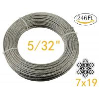 Quality Stainless Aircraft Steel 7x19 wire rope For Railing ,Decking, DIY Balustrade , 5/32Inch for sale