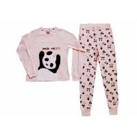 Quality Comfortable Winter Womens Long Sleeve Pajama Sets Animal Applique Embroidery for sale
