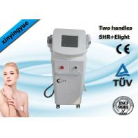 Quality Professional 2 handpiece pain free hair removal  / freckle removal SHR ipl machine for sale