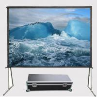China Quality 150 Inch 4:3 Fast Folding Front Projector Projection Screen Floor Stand HD Screens on sale