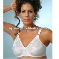 Quality Hand Wash Comfortable Custom White Padded Plus Size Convertible Bra With G H I J / K Cup for sale